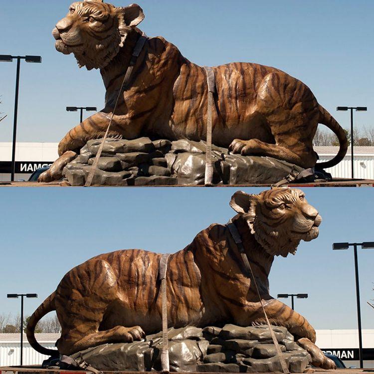 bronze animal tiger sculpture for park decoration