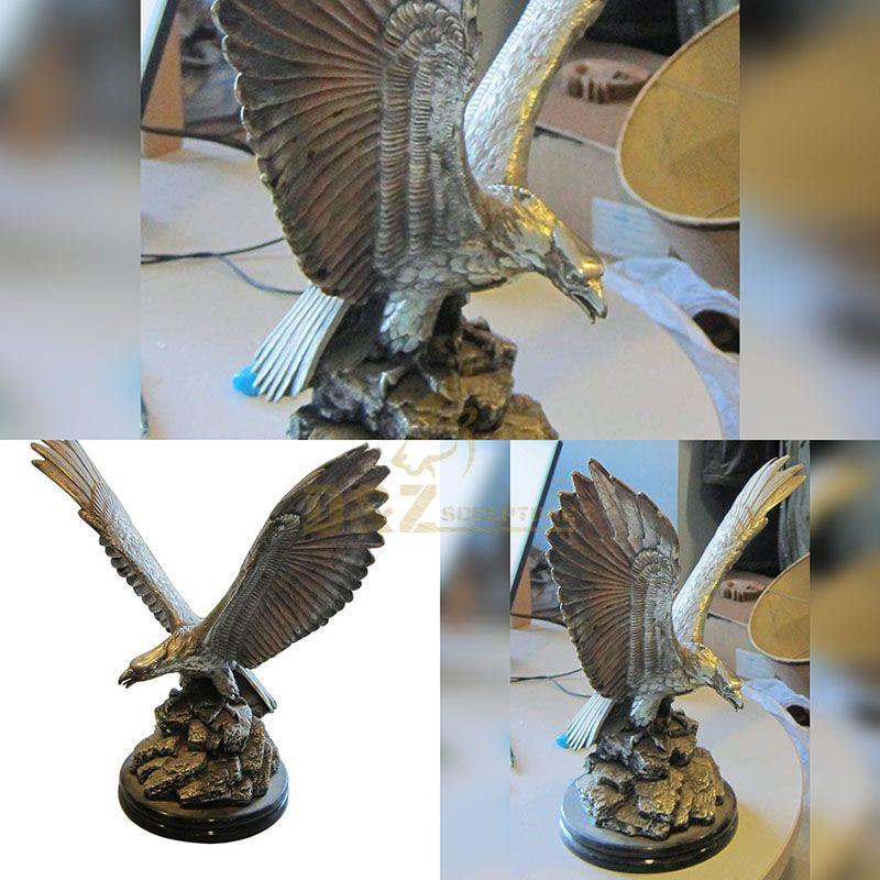 Garden Outdoor Cast Bronze Eagle Sculpture