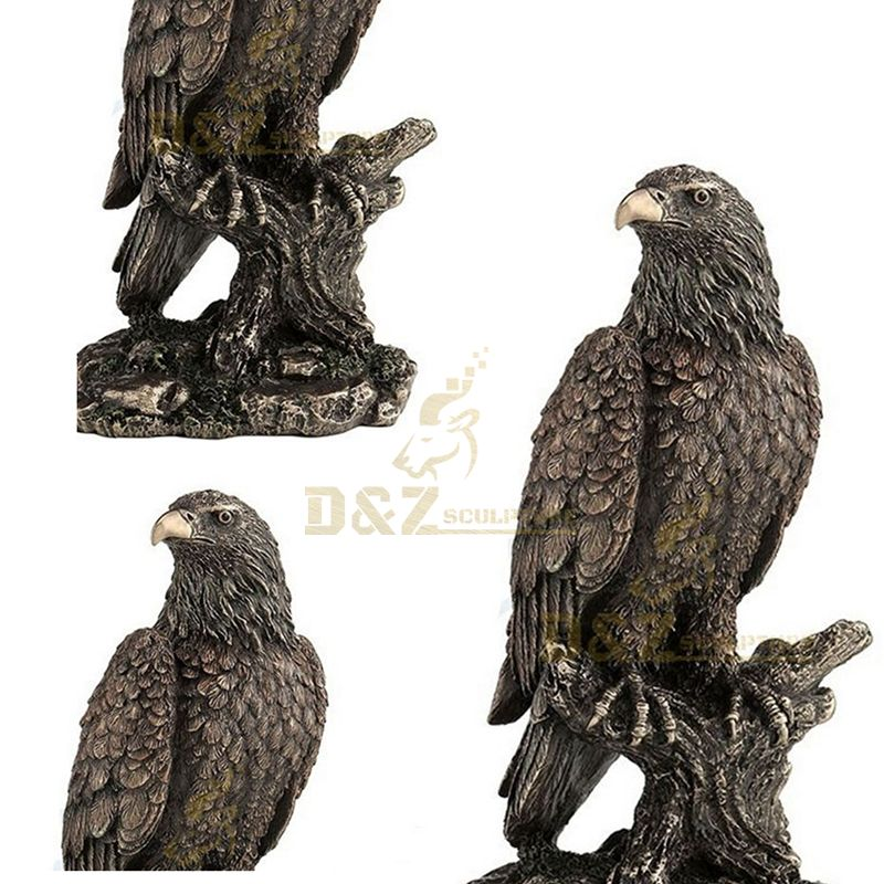 High quality vivid bronze eagle sculpture statue for sale