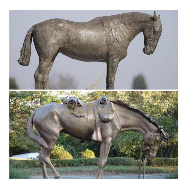 bronze standing horse