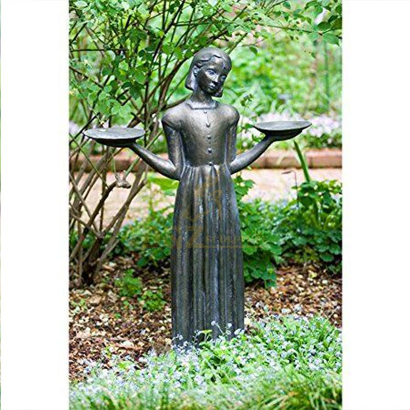 Large savannah bird girl statue for sale