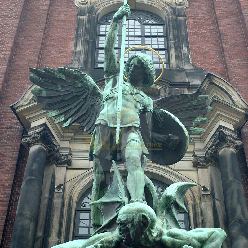 Bronze st michael the archangel outdoor statue