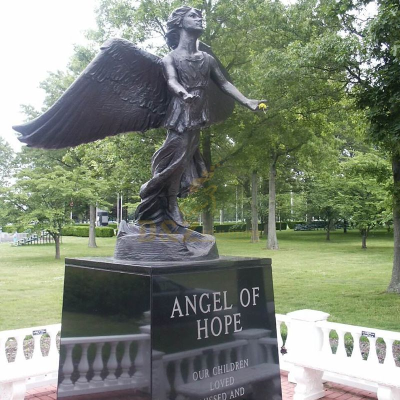 Angel of hope statue or the christmas box angel statue