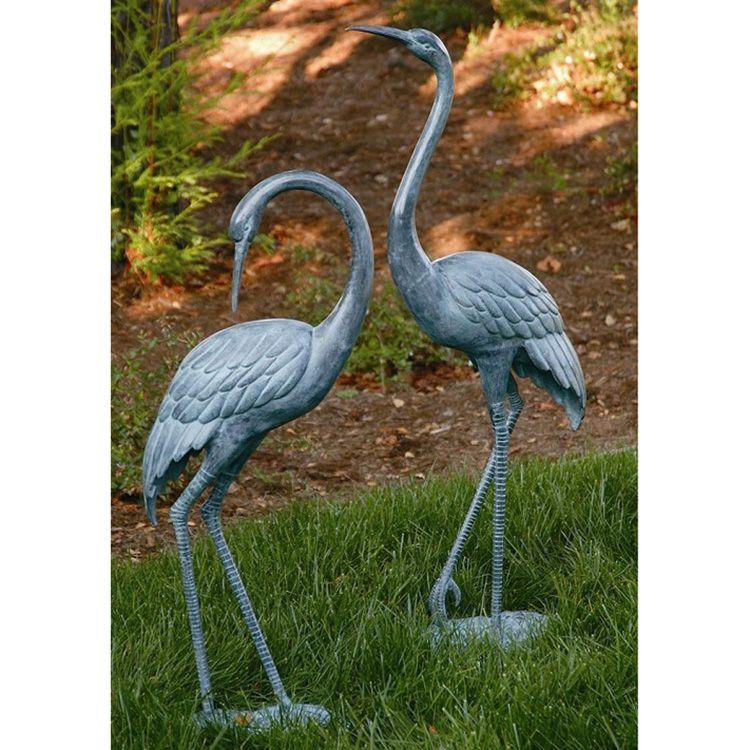 bronze flamingo sculpture