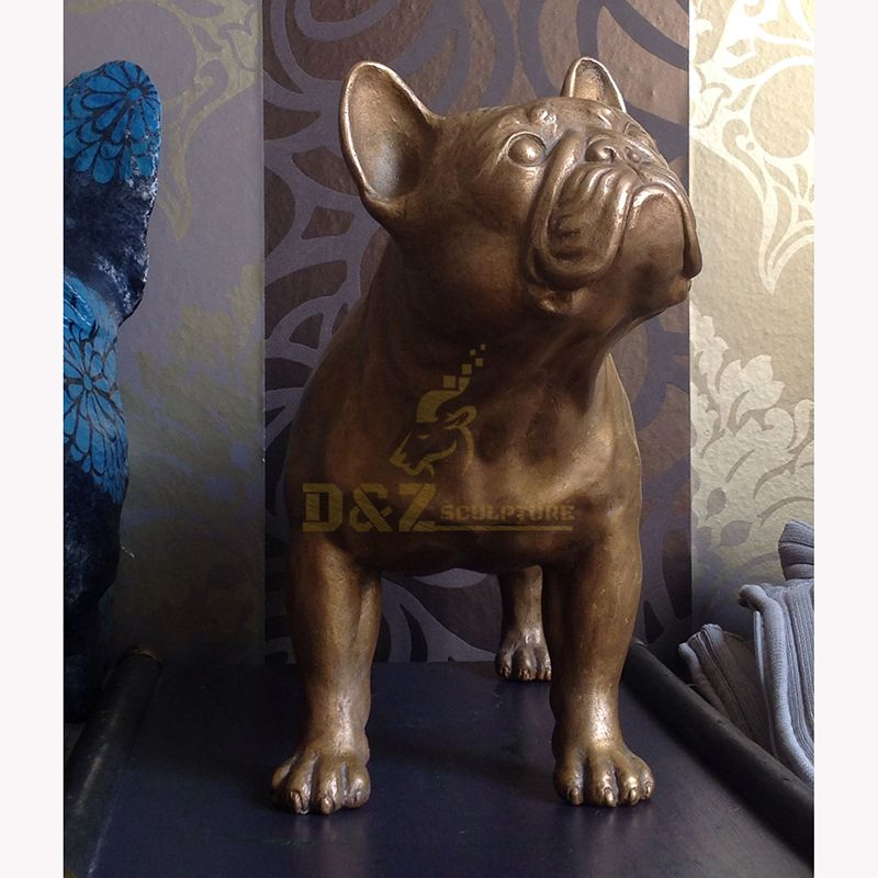 French bulldog garden statue