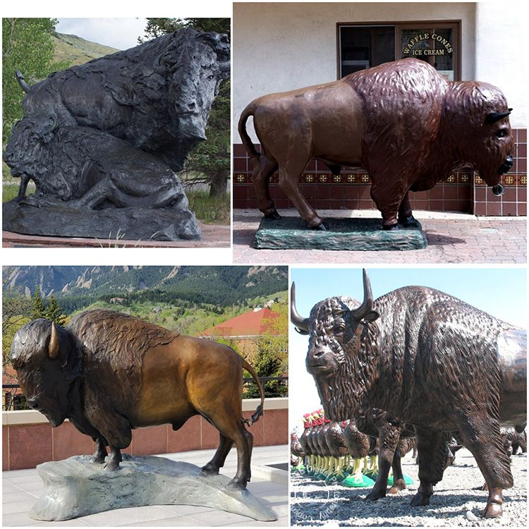 life size bison statue for sale