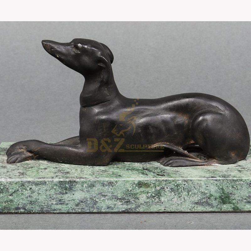 bronze greyhound statue