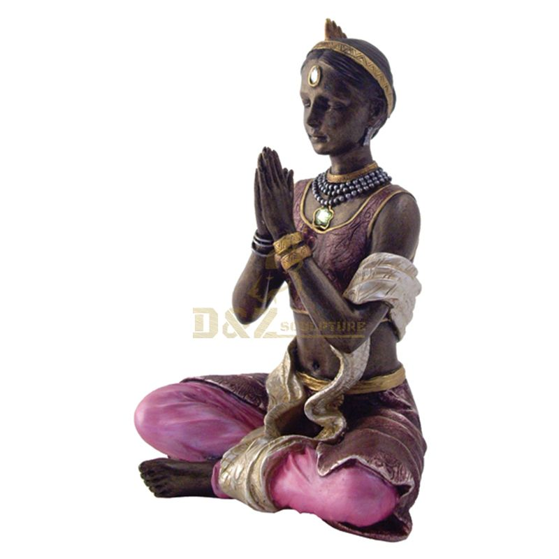 Modern garden yoga poses statues for sale