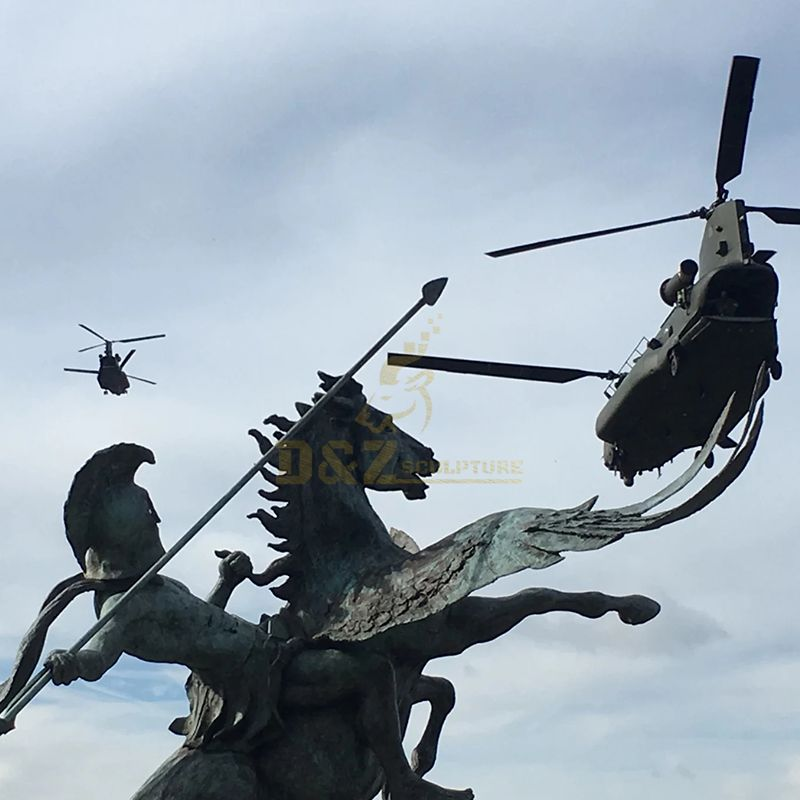 Pegasus and bellerophon statue