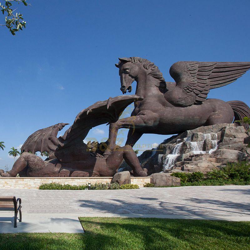 Gulfstream park pegasus and dragon statue Florida