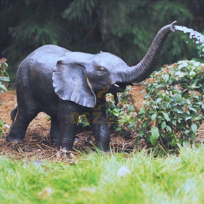 Outdoor elephant fountain