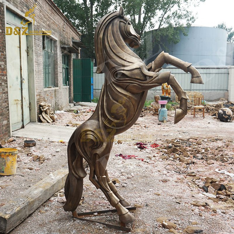 Abstract standing horse sculpture for sale