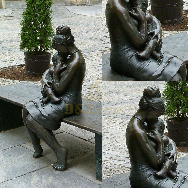 Mother and child garden statue for sale
