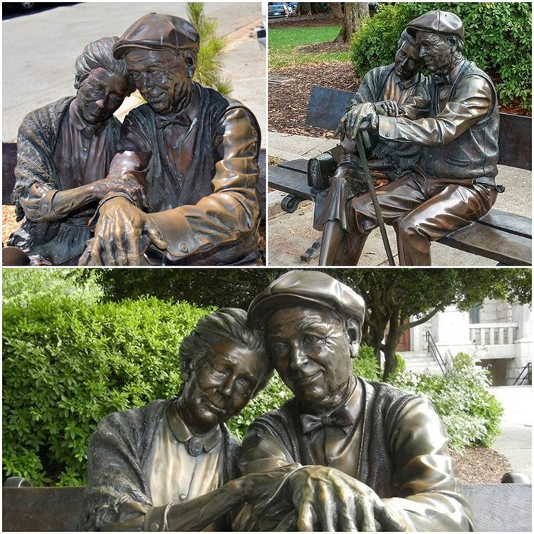 The famous bronze sculpture-The Valentine by George Lundeen Sculpture