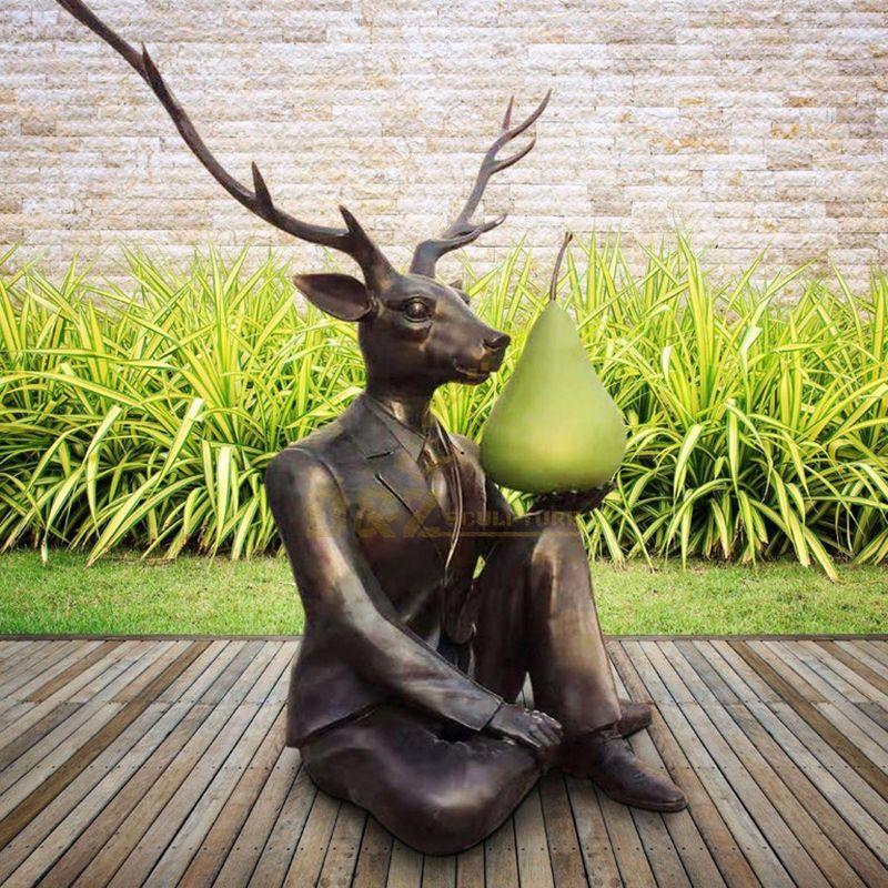 deerman art statue