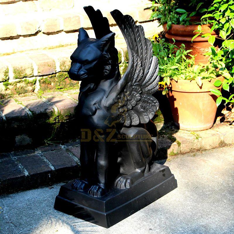 Outdoor cat face griffin gargoyle garden statues for sale