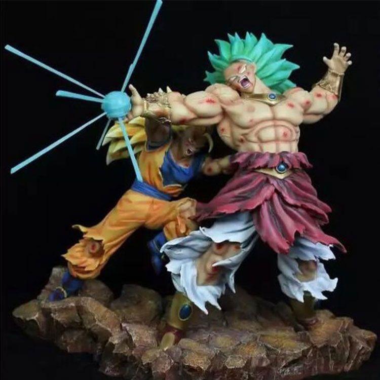 Broly and Goku Statue