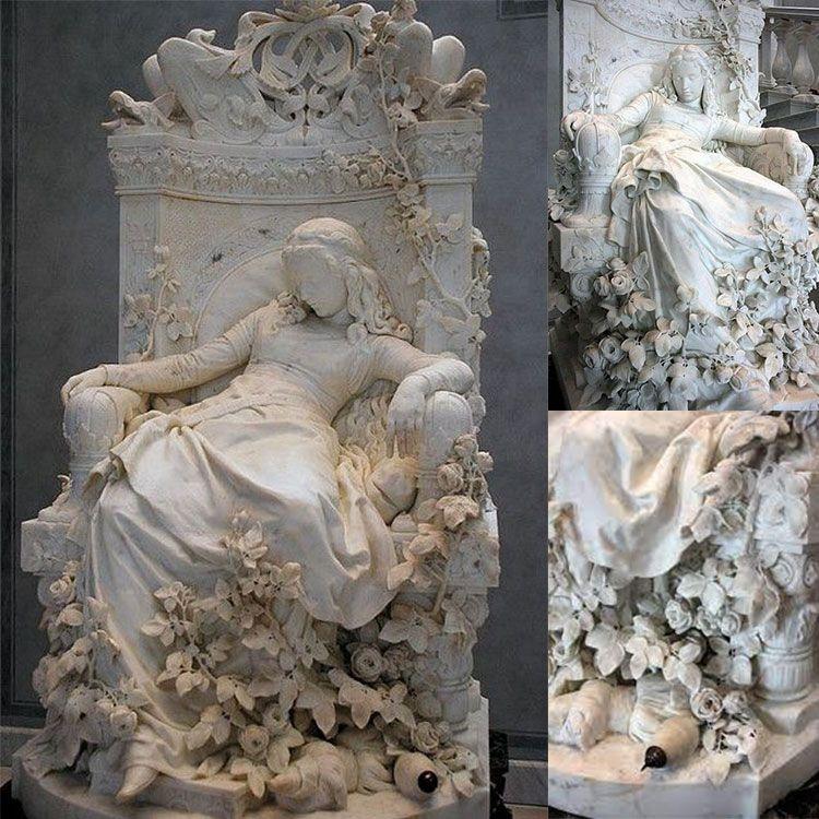 sleeping beauty garden statue