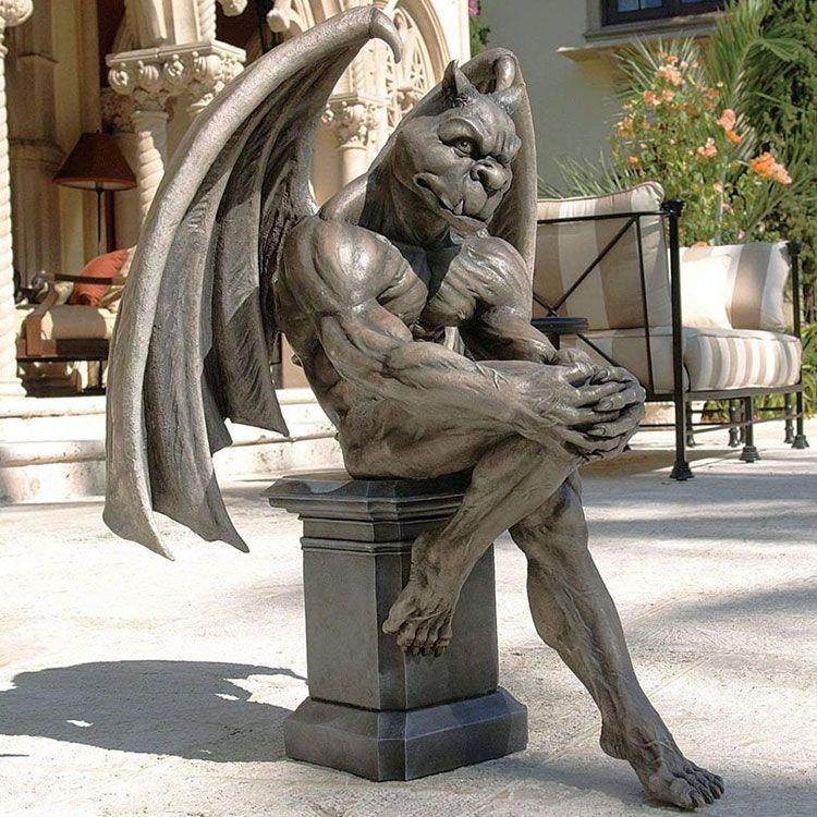 large garden gargoyle statue