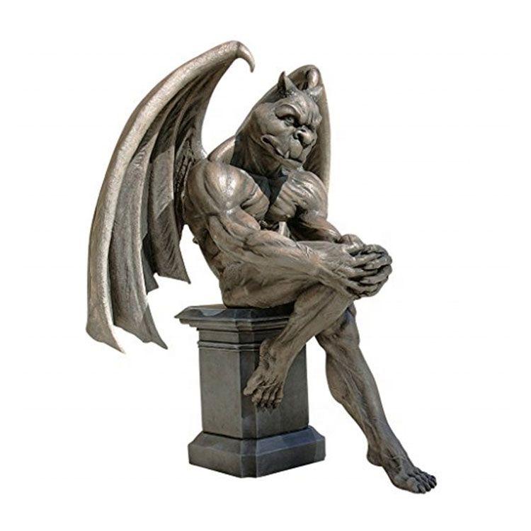 Outdoor gargoyle statue