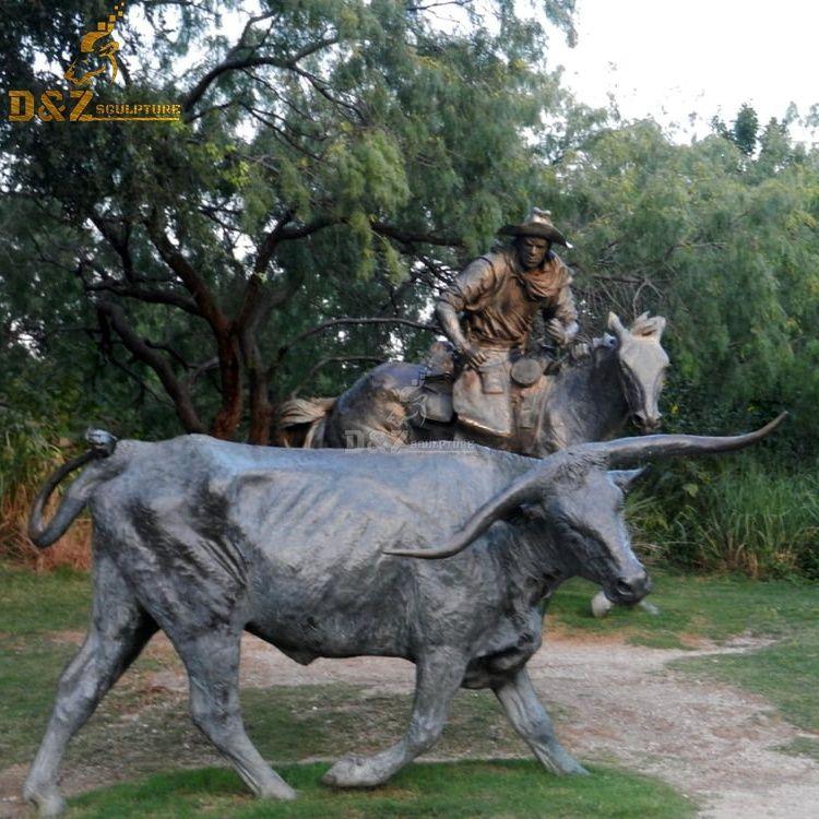 buffalo garden statue