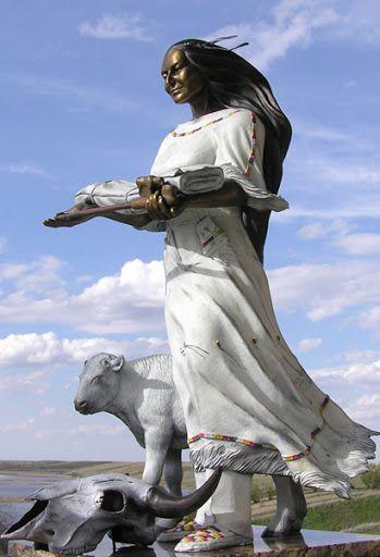 white buffalo woman statue