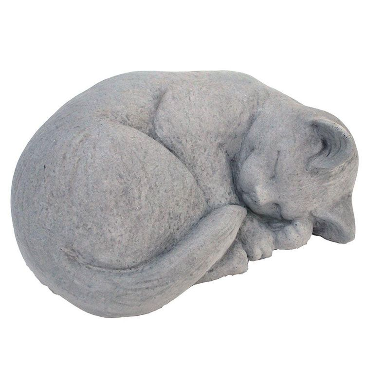 stone sleeping cat