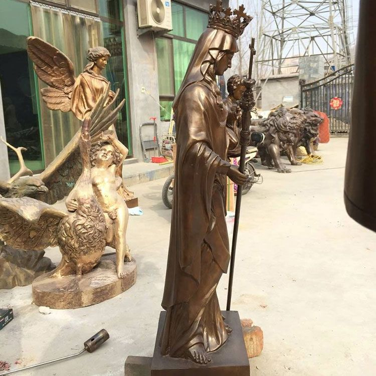 outdoor large statue of mary for garden