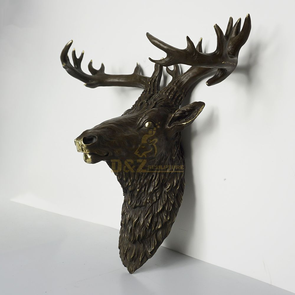 deer head statue home decor