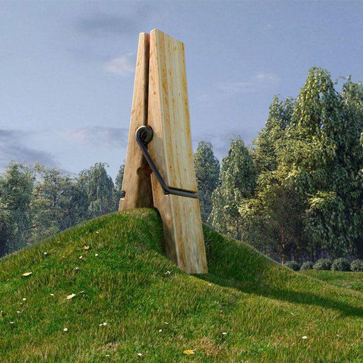 clothespin sculpture belgium