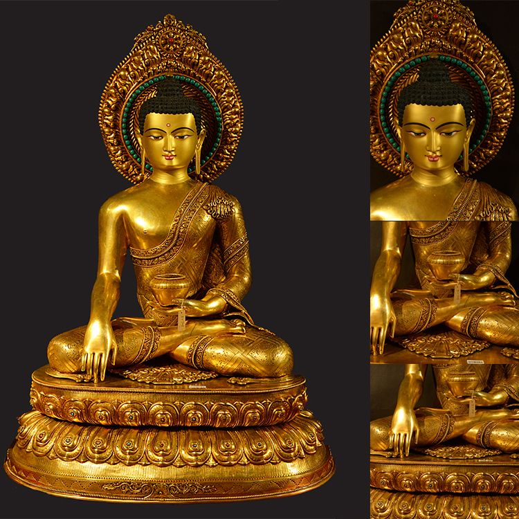 Giant gold Buddha statue Ornament for sale