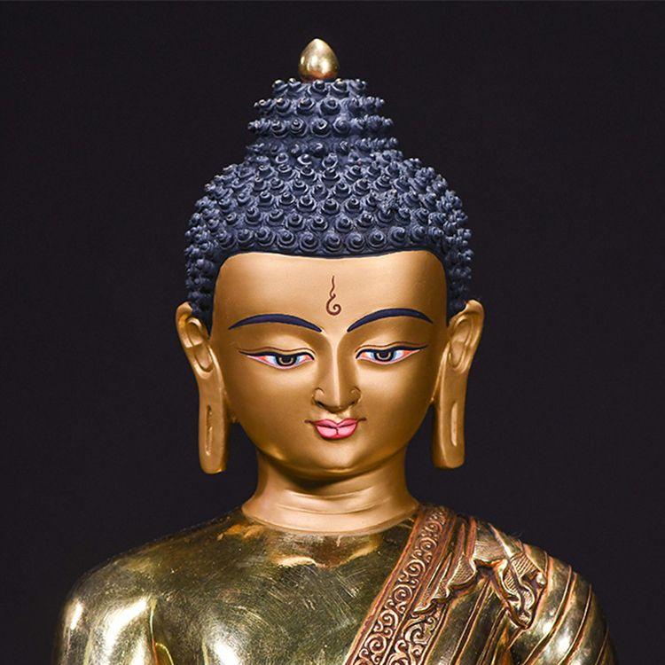 metal buddha head statue