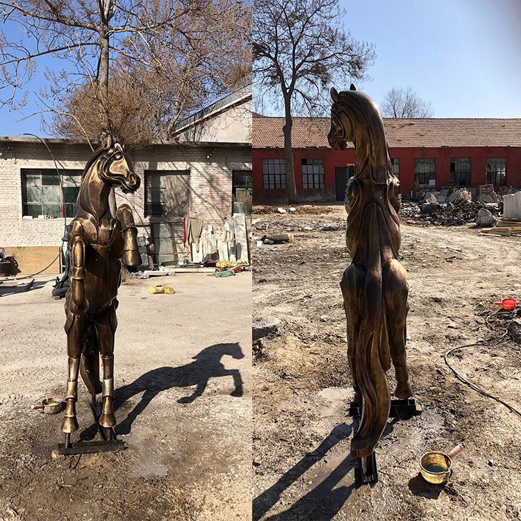 Outdoor large metal horse statue for sale