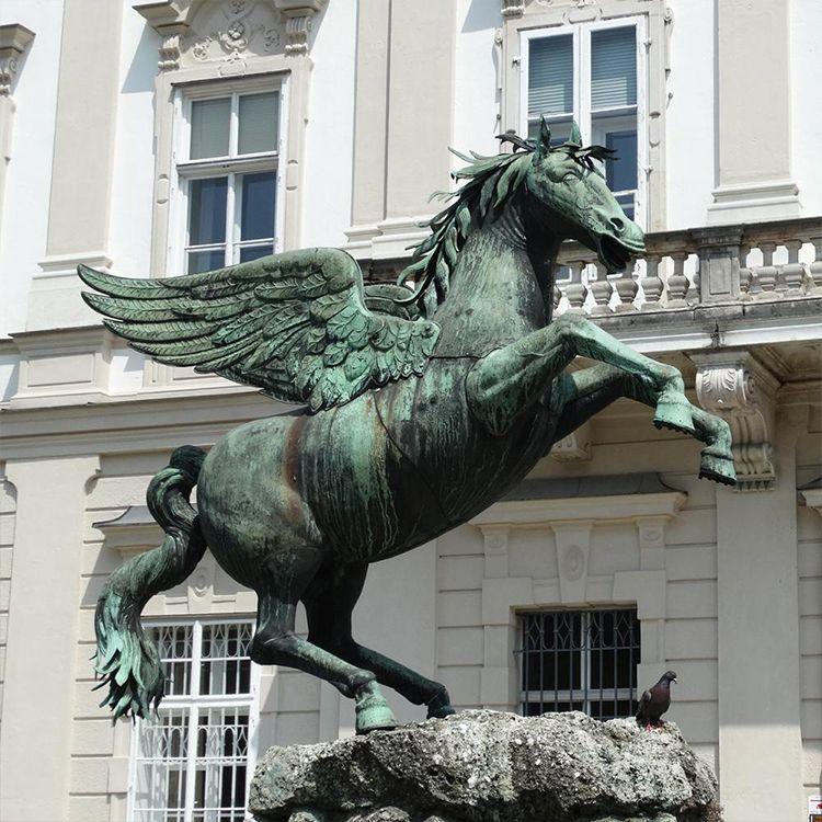 bronze pegasus statue