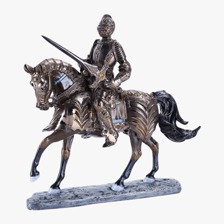 metal knight figurines