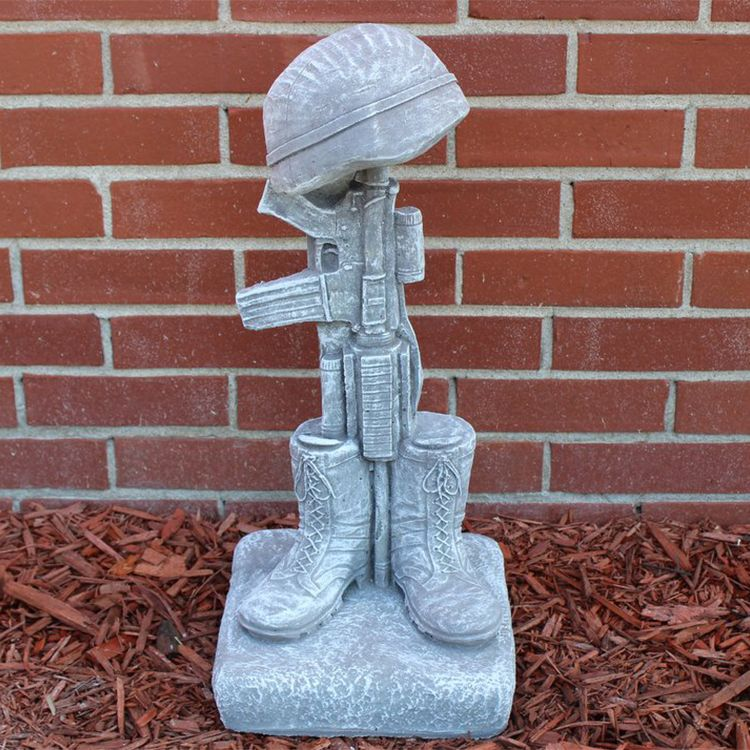 Outdoor military fallen soldier battle cross statue for sale