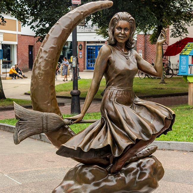 salem witch statue