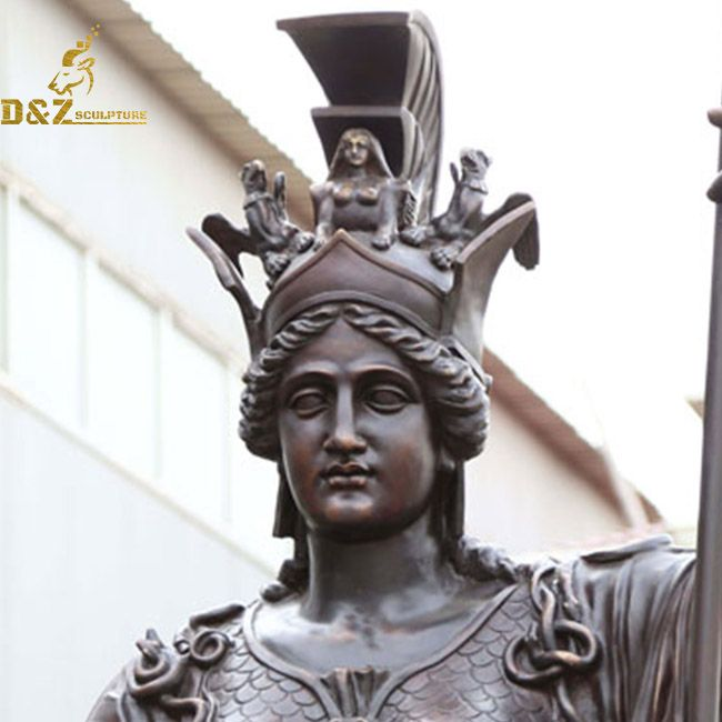 athena statue face
