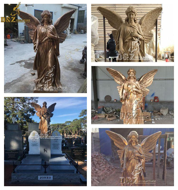 bronze guardian angel statue