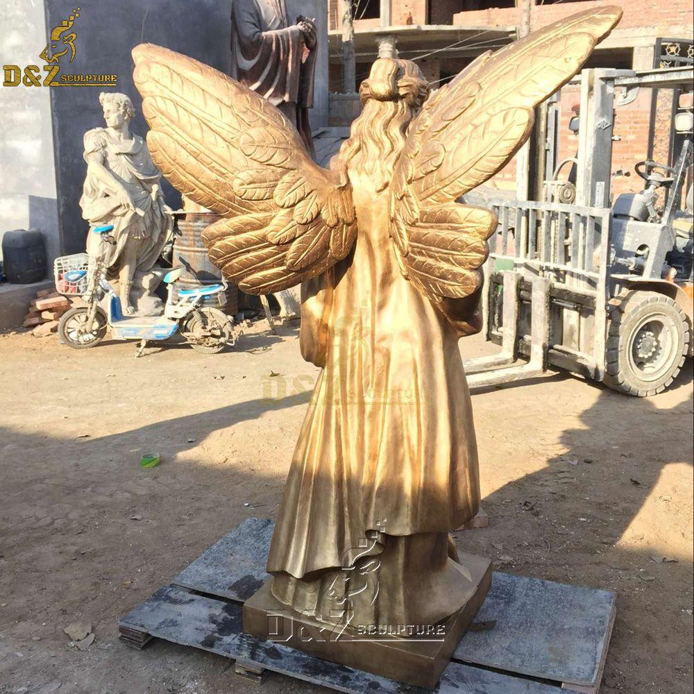 female guardian angel statue