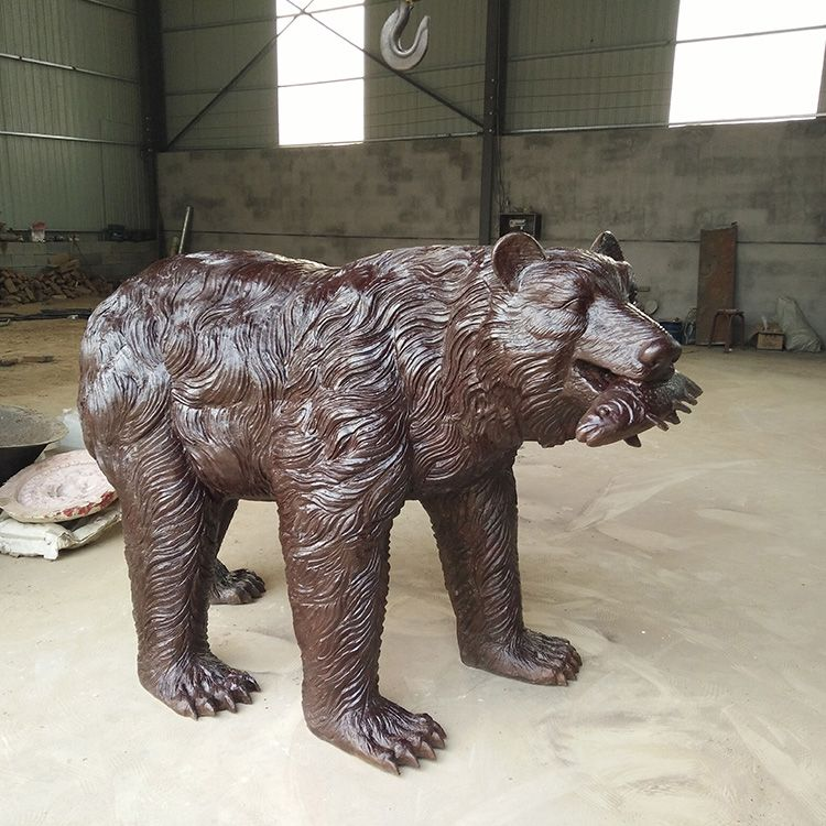 fishing bear garden statue