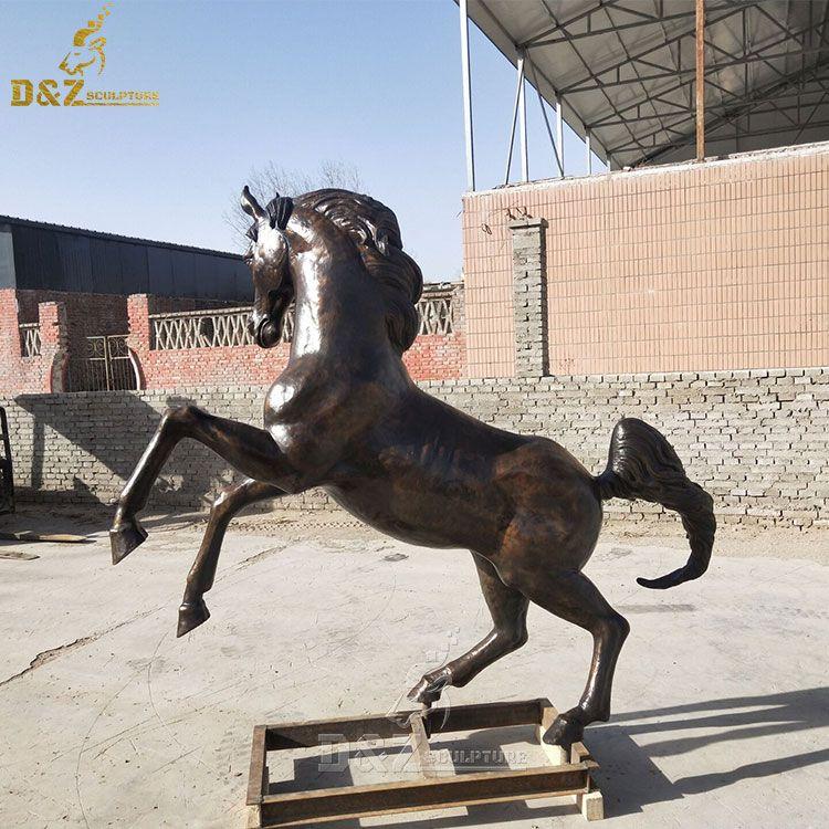 bronze arabian horse statue