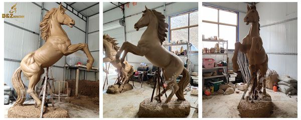 large standing horse statue for sale