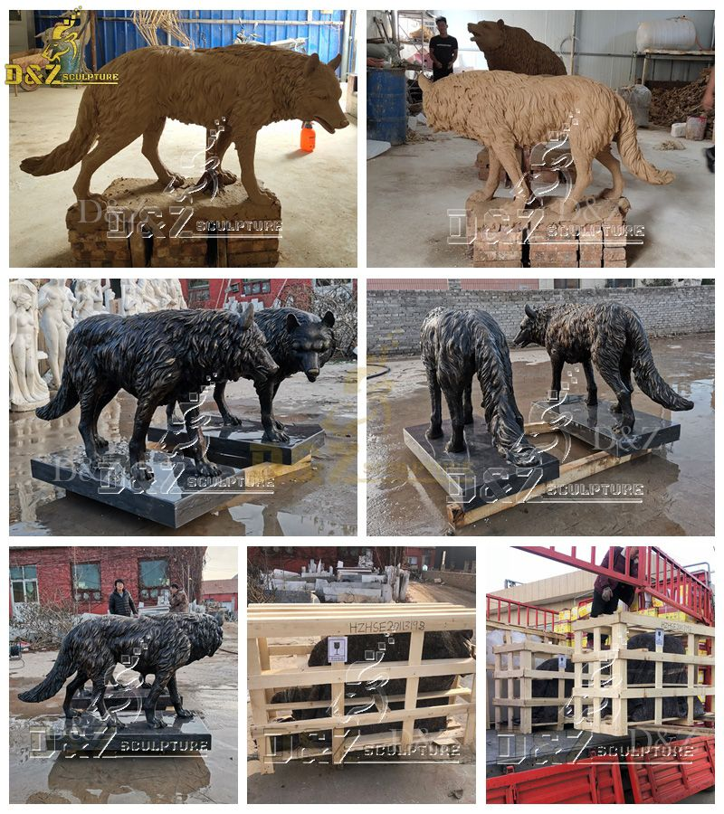 life size wolf statues for sale