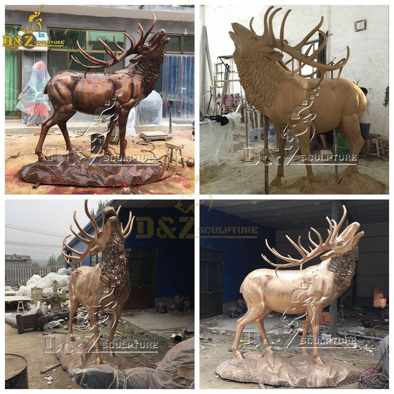 life size elk statue for sale