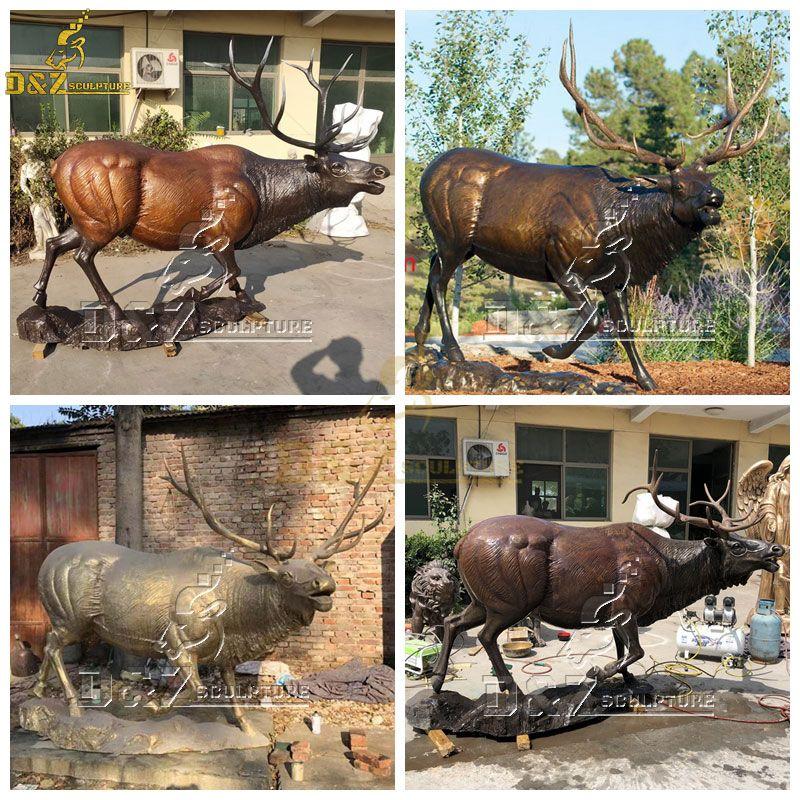 large bronze deer statue for sale