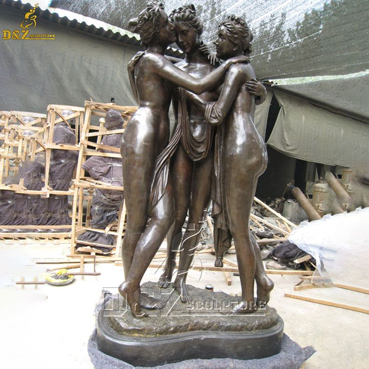 three graces garden statue