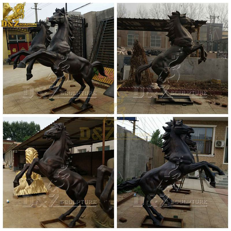 horse statue standing on two legs