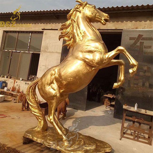 vintage brass horse statue