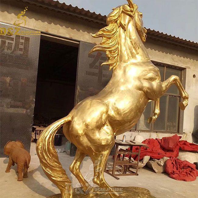 large brass horse figurine